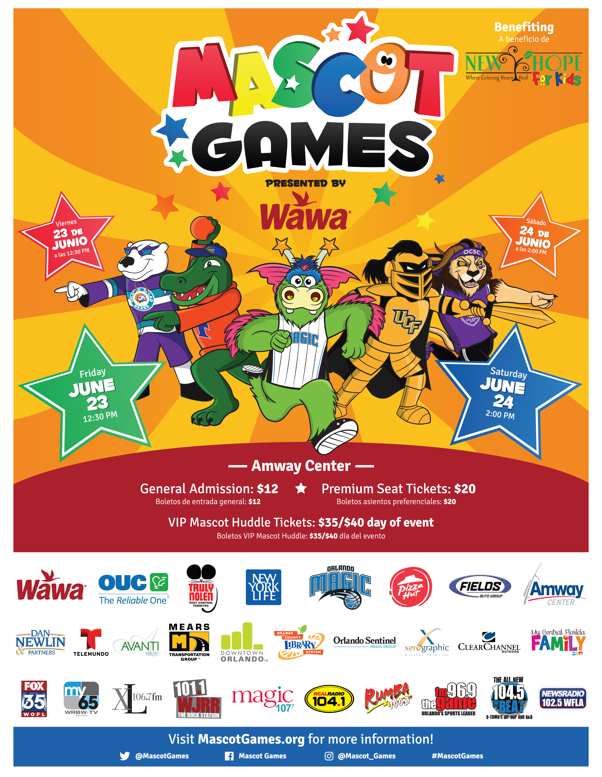 Mascot Games Start at Amway Center in Orlando June 2017 ...